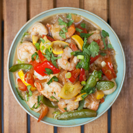 Thai Coconut Soup with Shrimp and Rice