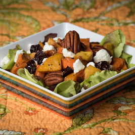 Roasted Root Vegetable & Goat Cheese Salad